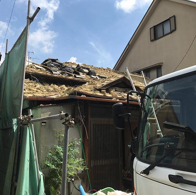 兵庫県尼崎市木造解体工事中