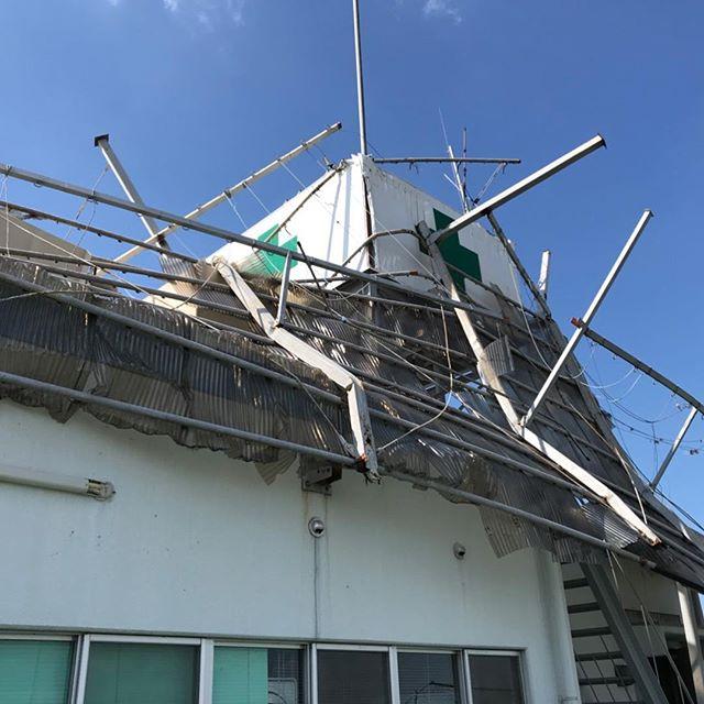 #解体工事#大阪#台風の影響被害#解体工事 #トライズは、どのよう状況でも施工いたします。