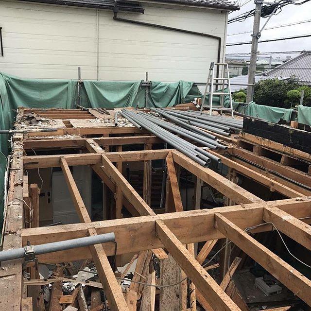 #大阪解体見積もり木造二階部、バラシ状況#TRYZは施工管理を重視しなおかつ安全を追求する業者です。