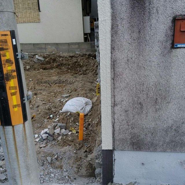 #解体大阪見積もり解体時に、つきものである隣との境界線、後でトラブルにならないよう#解体工事、前に協議することが必要!